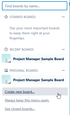 Create Your Board